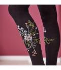 Ciorapi cu chilot cu imprimeu floral