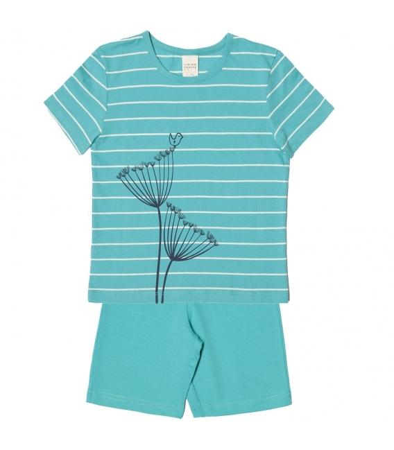 Pijama maneca scurta -bumbac organic